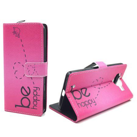 Handyhülle Tasche für Handy Microsoft Lumia 950 Be Happy Pink – Bild 1