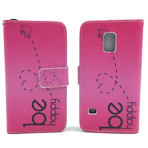 Handyhülle Tasche für Handy Samsung Galaxy S5 Mini Be Happy Pink