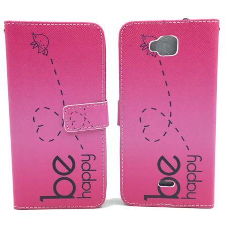 Handyhülle Tasche für Handy Wiko Slide Be Happy Pink