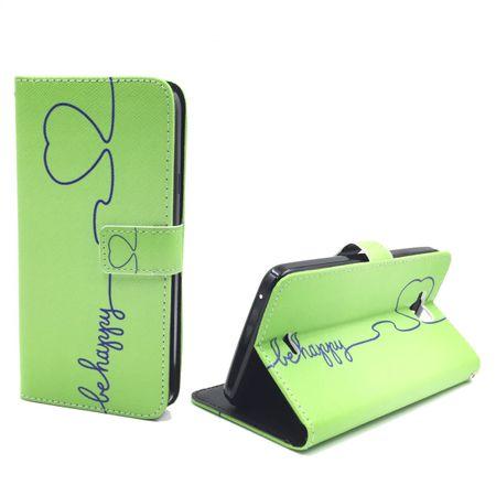 Handyhülle Tasche für Handy Wiko Slide Be Happy Grün – Bild 4