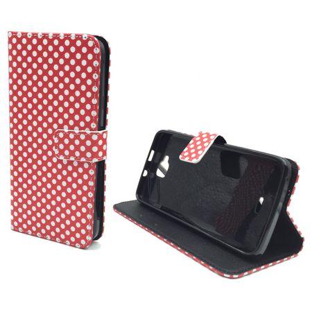 Handyhülle Tasche für Handy Wiko Slide Polka Dot Rot – Bild 2