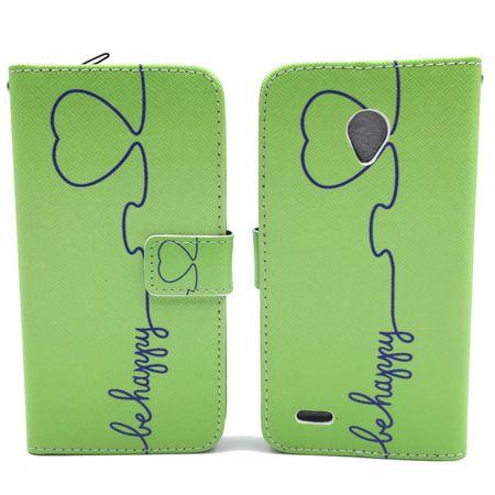 Handyhülle Tasche für Handy Vodafone Smart Prime 6 Be Happy Grün