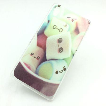 Handy Hülle für Sony Xperia M4 Aqua Cover Case Schutz Tasche Motiv Slim Silikon TPU Schriftzug Marshmallows – Bild 1