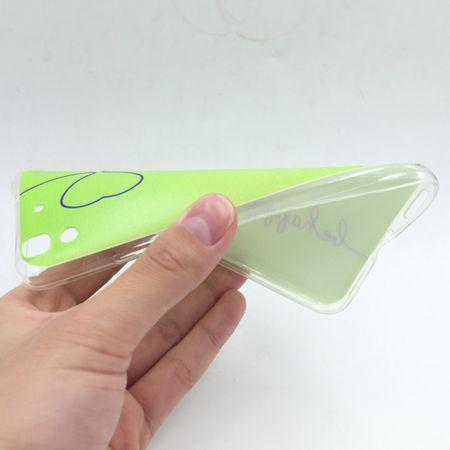 Handy Hülle für Huawei Y6 Cover Case Schutz Tasche Motiv Slim Silikon TPU Be Happy Grün – Bild 2