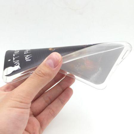 Handy Hülle für Huawei G Play Mini Cover Case Schutz Tasche Motiv Slim Silikon TPU Schriftzug Bär mit Kettensäge – Bild 2