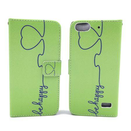 Handyhülle Tasche für Handy Huawei G Play Mini Be Happy Grün – Bild 1