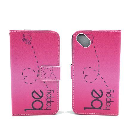 Handyhülle Tasche für Handy Wiko Sunset 2  Be Happy Pink – Bild 3