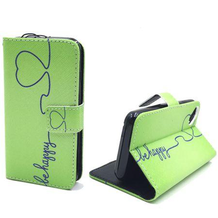 Handyhülle Tasche für Handy Wiko Sunset 2  Be Happy Grün