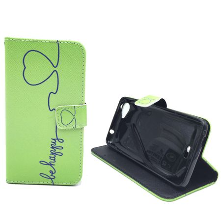 Handyhülle Tasche für Handy Wiko Rainbow Jam  Be Happy Grün – Bild 5