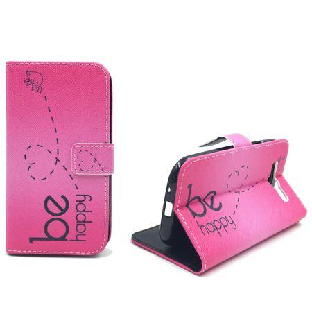 Handyhülle Tasche für Handy Samsung Galaxy S3 / S3 Neo Be Happy Pink – Bild 4