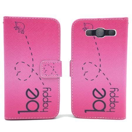 Handyhülle Tasche für Handy Samsung Galaxy S3 / S3 Neo Be Happy Pink – Bild 6