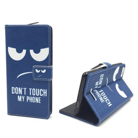 Handyhülle Tasche für Handy Wiko Fever 4G  Dont Touch my Phone – Bild 4
