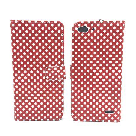 Handyhülle Tasche für Handy Vodafone Smart Ultra 6 Polka Dot Rot