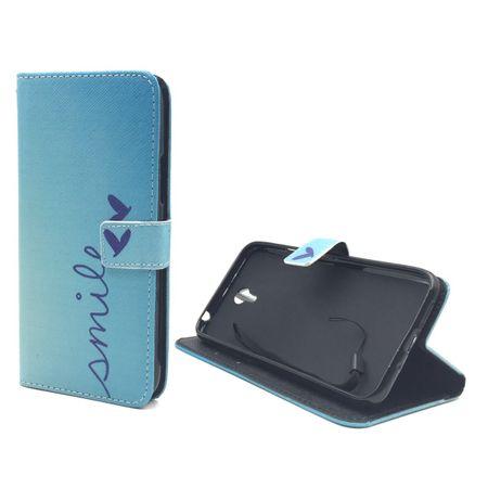 Handyhülle Tasche für Handy Lenovo ZUK Z1 Schriftzug Smile Blau – Bild 5