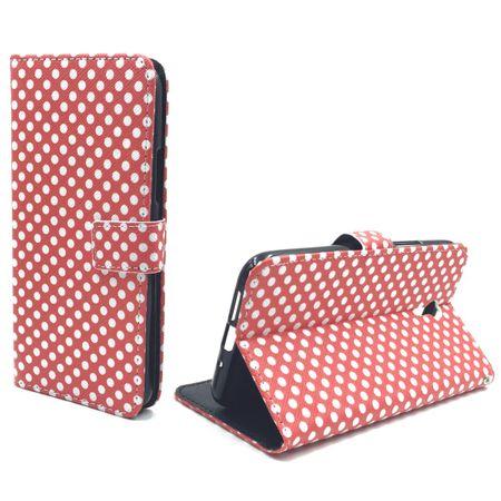 Handyhülle Tasche für Handy Lenovo ZUK Z1 Polka Dot Rot