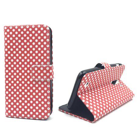 Handyhülle Tasche für Handy Huawei Y625 Polka Dot Rot