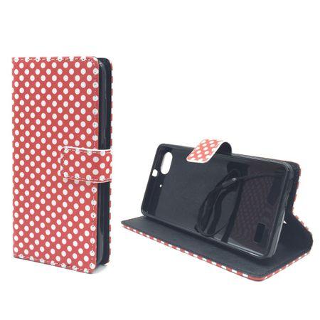Handyhülle Tasche für Handy Huawei G Play Mini Polka Dot Rot – Bild 4