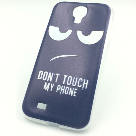 Handy Hülle für Samsung Galaxy S4 Cover Case Schutz Tasche Motiv Slim Silikon TPU Dont Touch my Phone