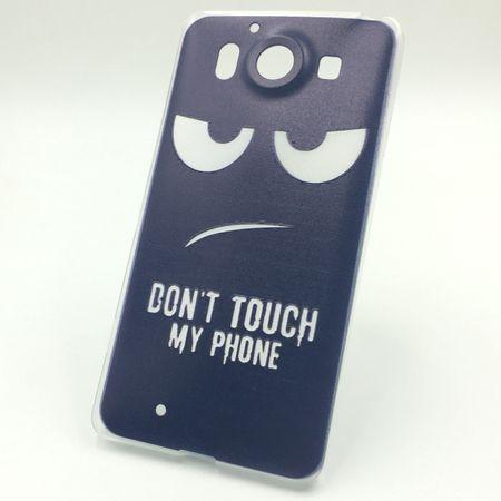 Handy Hülle für Microsoft Lumia 950 Cover Case Schutz Tasche Motiv Slim Silikon TPU Dont Touch my Phone