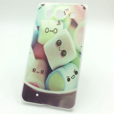 Handy Hülle für Microsoft Lumia 950 Cover Case Schutz Tasche Motiv Slim Silikon TPU Schriftzug Marshmallows