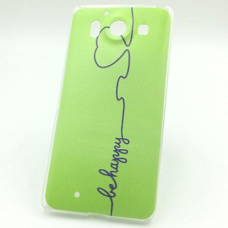 Handy Hülle für Microsoft Lumia 950 Cover Case Schutz Tasche Motiv Slim Silikon TPU Be Happy Grün