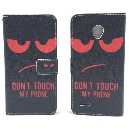 Handyhülle Tasche für Handy Vodafone Smart Prime 6 Dont Touch My Phone Rot – Bild 6