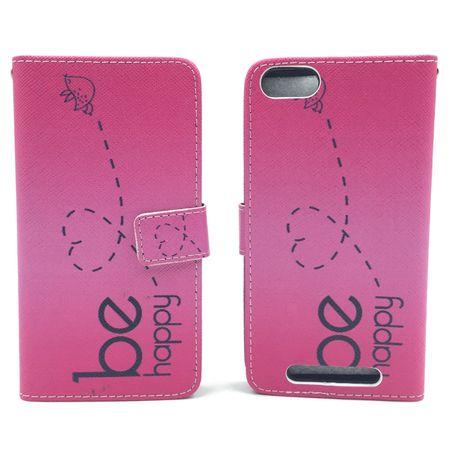 Handyhülle Tasche für Handy Wiko Jerry  Be Happy Pink