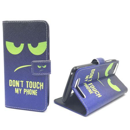 Handyhülle Tasche für Handy Wiko Jerry Dont Touch My Phone Grün