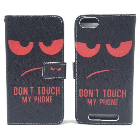 Handyhülle Tasche für Handy Wiko Jerry Dont Touch My Phone Rot – Bild 3