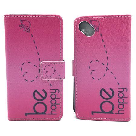 Handyhülle Tasche für Handy Wiko Sunny  Be Happy Pink – Bild 6