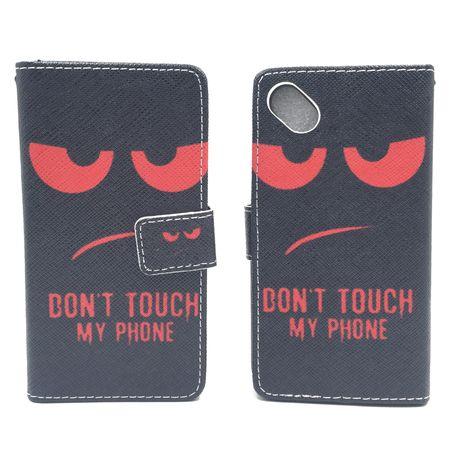 Handyhülle Tasche für Handy Wiko Sunny Dont Touch My Phone Rot – Bild 3