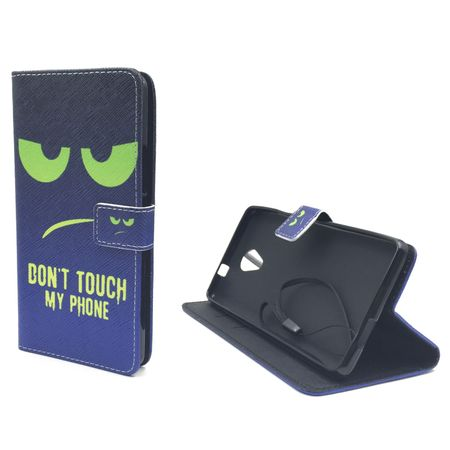 Handyhülle Tasche für Handy Wiko Robby Dont Touch My Phone Grün – Bild 5