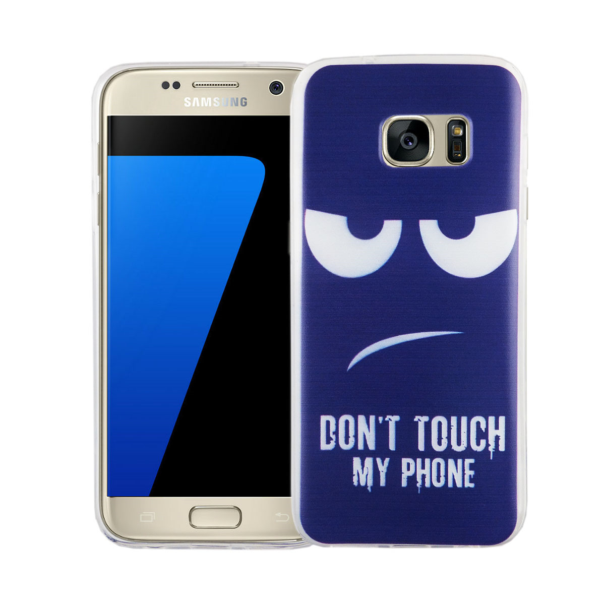 handy h lle f r samsung galaxy s7 cover case schutz tasche motiv slim silikon tpu dont touch my. Black Bedroom Furniture Sets. Home Design Ideas