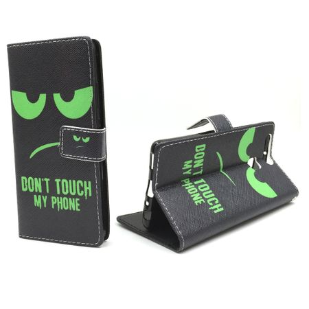 Dont Touch My Phone Handyhülle Huawei P9 Klapphülle Wallet Case