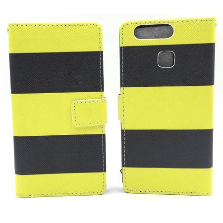 Handyhülle Tasche für Handy Huawei P9 Dont Schwarz / Gelb – Bild 3