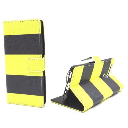 Handyhülle Tasche für Handy Huawei P9 Dont Schwarz / Gelb – Bild 4