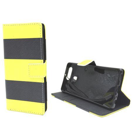 Handyhülle Tasche für Handy Huawei P9 Dont Schwarz / Gelb – Bild 5