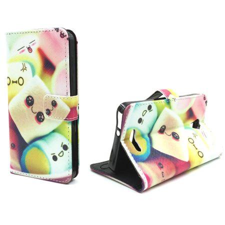 Handyhülle Tasche für Handy Alcatel Pop 4 Schriftzug Marshmallows
