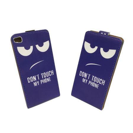 Dont Touch My Phone Handyhülle Huawei P8 Klapphülle Flip Case – Bild 2