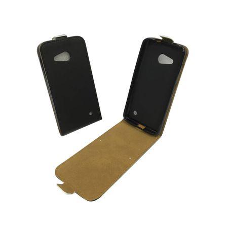 Handyhülle Tasche für Handy Microsoft Lumia 640 Schwarz