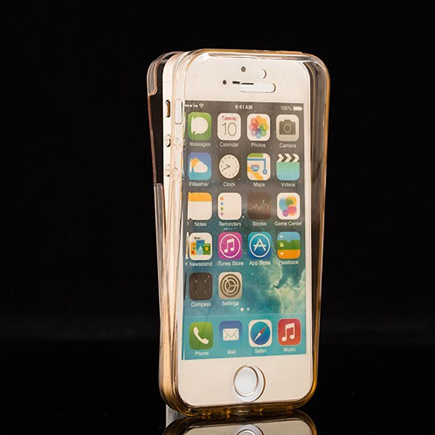 crystal case h lle f r apple iphone 5 5s se gold. Black Bedroom Furniture Sets. Home Design Ideas
