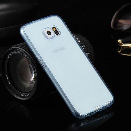 Crystal Case Hülle für Samsung Galaxy J1 2015 Blau Rahmen Full Body – Bild 2