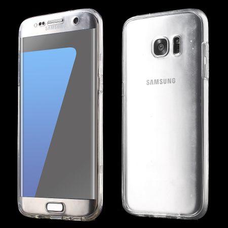 Crystal Case Hülle für Samsung Galaxy S7 Edge Transparent Full Body – Bild 1