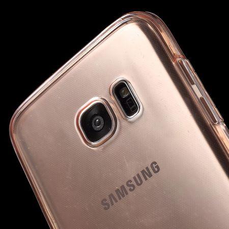 Crystal Case Hülle für Samsung Galaxy S7 Edge Pink Rahmen Full Body – Bild 4