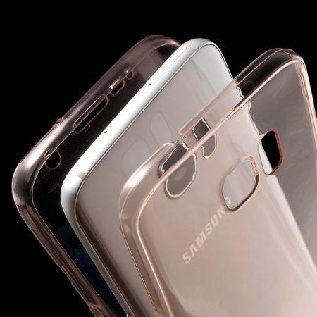 Crystal Case Hülle für Samsung Galaxy S7 Edge Pink Rahmen Full Body – Bild 5