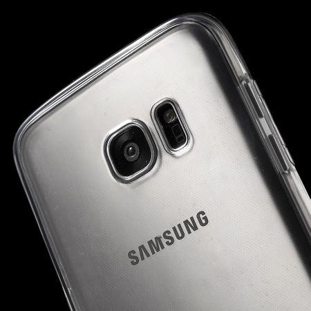 Crystal Case Hülle für Samsung Galaxy S7 Edge Grau Rahmen Full Body – Bild 6