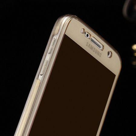 Crystal Case Hülle für Samsung Galaxy A9 Gold Rahmen Full Body – Bild 4