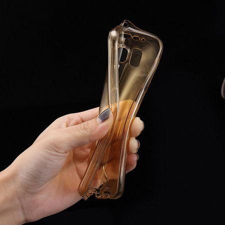 Crystal Case Hülle für Samsung Galaxy A9 Gold Rahmen Full Body – Bild 6