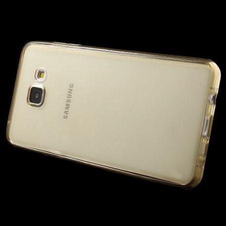 Crystal Case Hülle für Samsung Galaxy A7 2016 Gold Rahmen Full Body – Bild 3