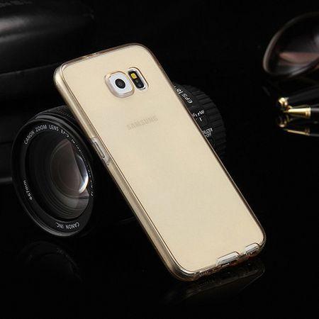 Crystal Case Hülle für Samsung Galaxy S6 Edge Gold Rahmen Full Body – Bild 7